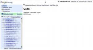 Google Reader Ooops!
