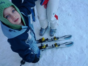 Мартин на ски